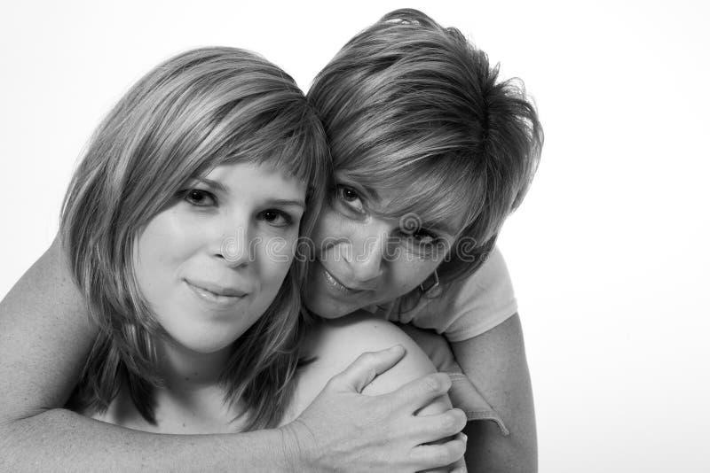 Mutter- und Tochterholding stockfoto