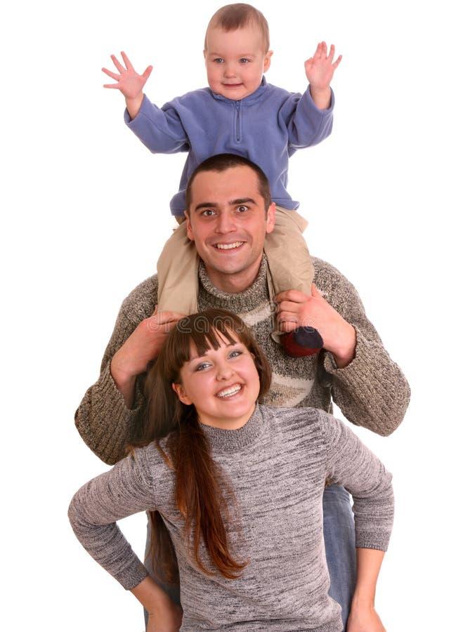 Mutter, Vater und kleiner Sohn. stockfoto