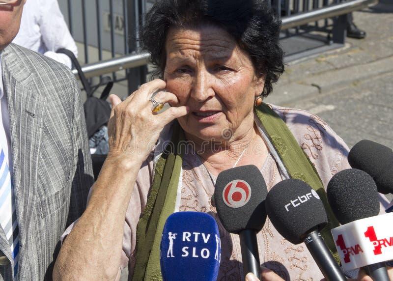 Mutter von Srebrenica lizenzfreie stockfotografie