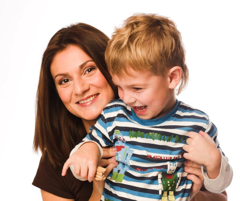 Mutter zusammen mit dem Sohn lizenzfreies stockfoto