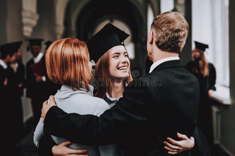 muttergesellschaft glückwünsche kursteilnehmer Endstudien stockbild