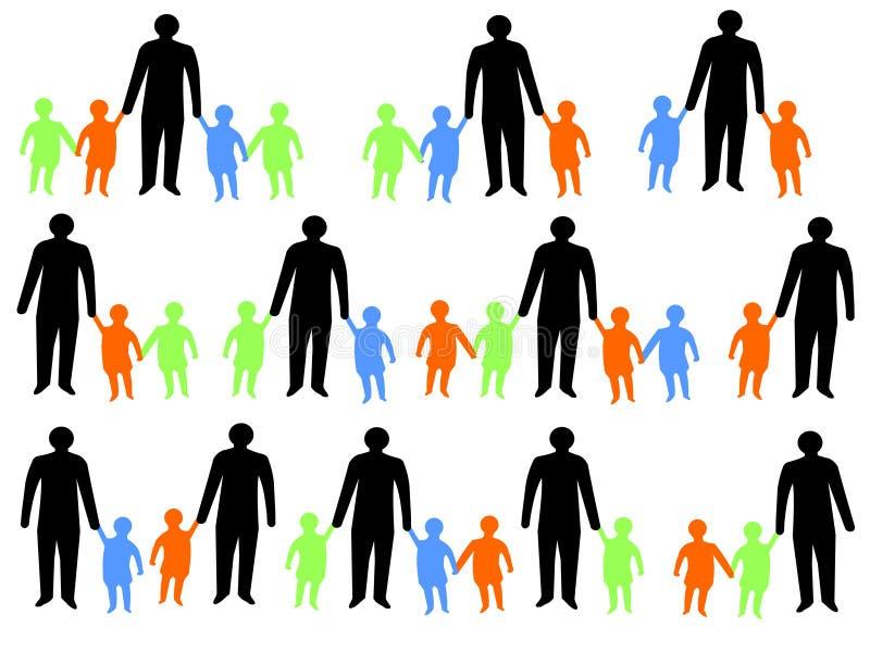 Muttergesellschaft mit Kindern stock abbildung