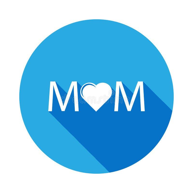Mutterherzikone Element der Muttertagesikone Erstklassige Qualitätsgrafikdesignikone Zeichen und Symbole können für Netz, Logo ve stock abbildung