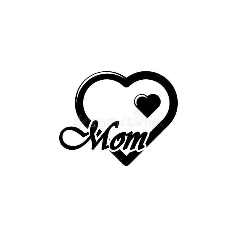 Mutterikone des Herzens ich liebe dich Element der Muttertagesikone Erstklassige Qualitätsgrafikdesignikone Zeichen und Symbolsam stock abbildung