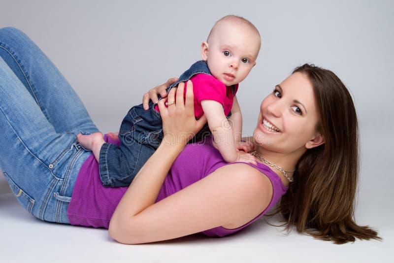 Mutterkind stockbild