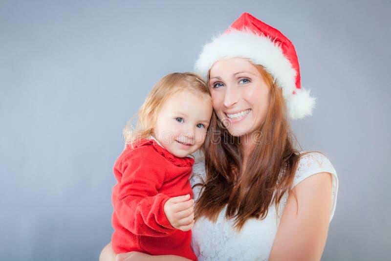 Mutterkindweihnachten stockfotografie
