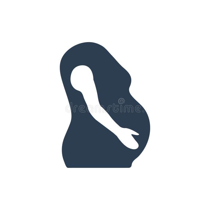 Mutterschafts-/Schwangerschafts-Ikone lizenzfreie abbildung
