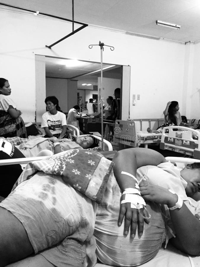 Mutterschaftsraum am Allgemeinkrankenhaus, Philippinen lizenzfreies stockbild