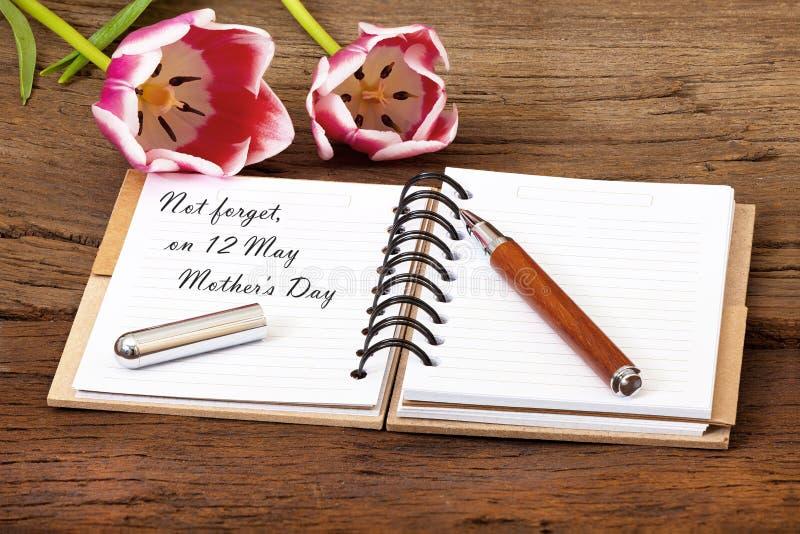 Muttertag-Ereignis-Anzeige lizenzfreie stockfotografie