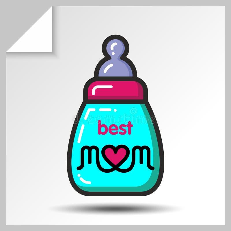 Muttertag icons_5 stock abbildung