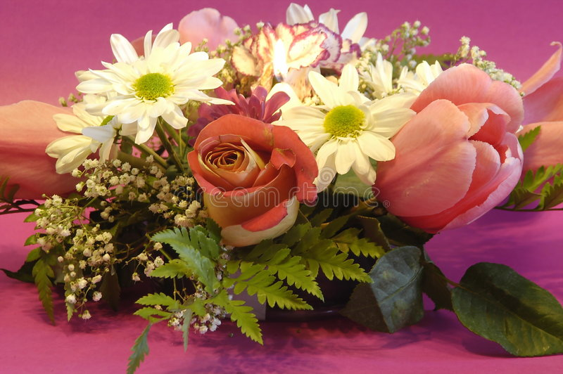 Muttertagesblumenstrauß stockfoto