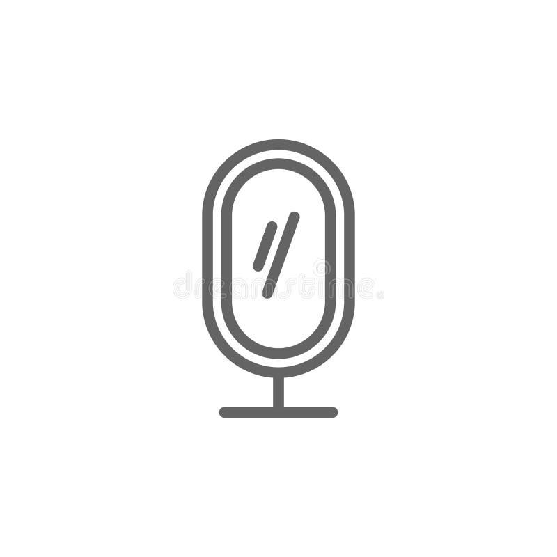 Muttertagesspiegelentwurfsikone Element der Muttertagesillustrationsikone Zeichen und Symbole k?nnen f?r Netz, Logo, mobiler App  lizenzfreie abbildung