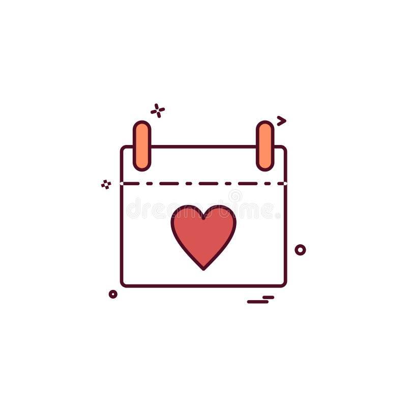 Muttertagkalenderikonen-Designvektor vektor abbildung
