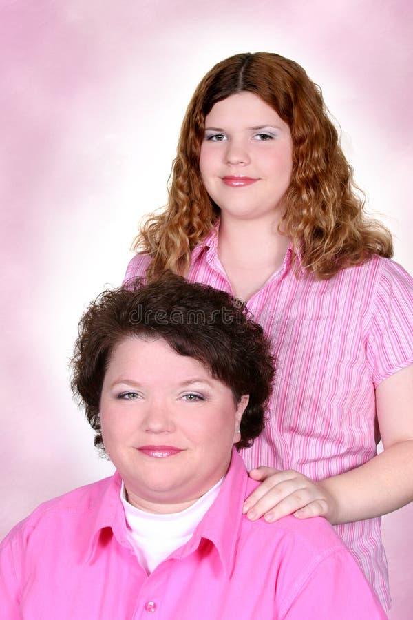 Muttertochter-Portrait lizenzfreies stockfoto