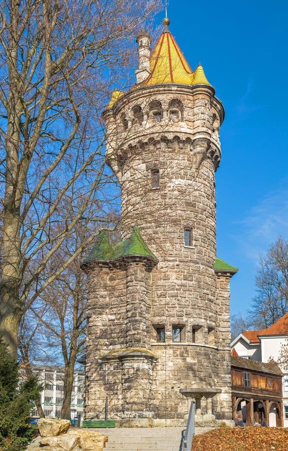 Mutterturm在Landsberg,德国 免版税库存图片