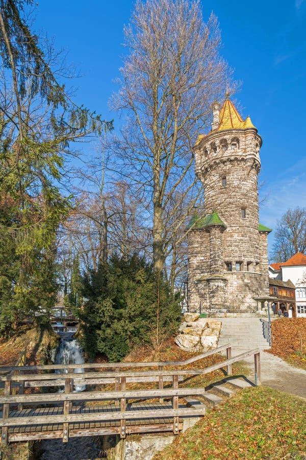 Mutterturm在Landsberg,德国 免版税库存照片