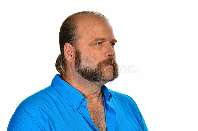 Mutton chops. Elderly man with a trimmed beard mutton chops stock image