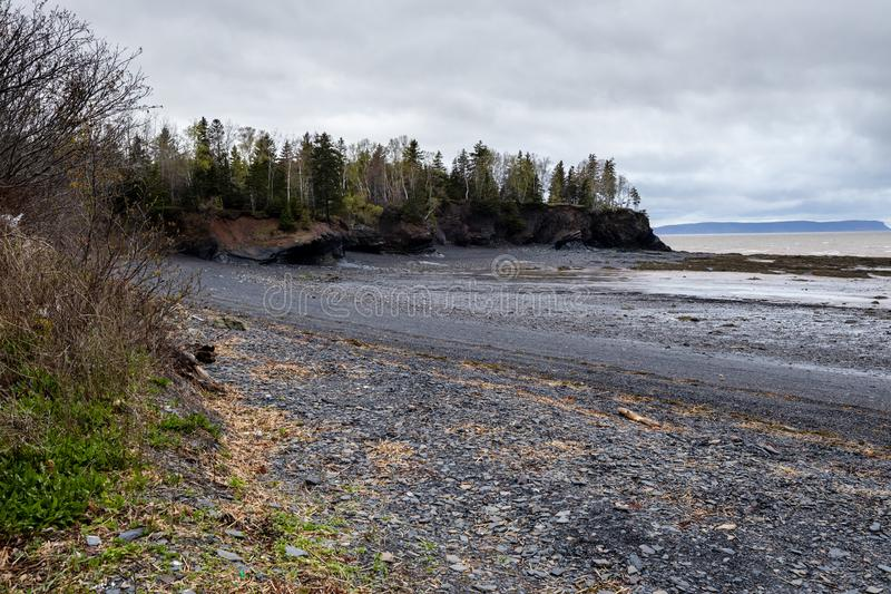 Mutton Cove Beach, Nova Escócia, Canadá imagem de stock