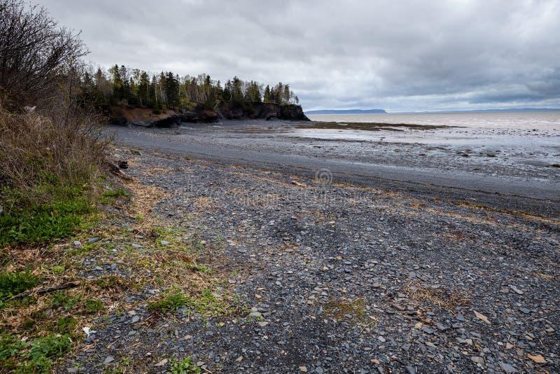 Mutton Cove Beach, Nova Escócia, Canadá fotografia de stock
