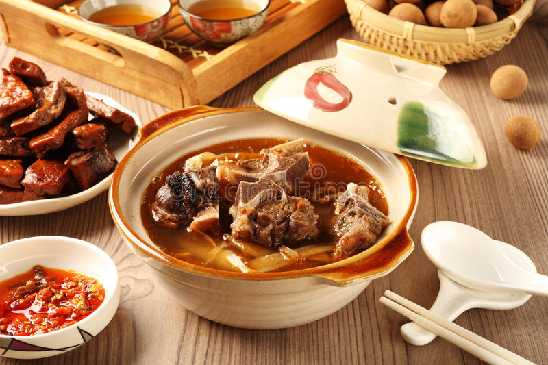 Mutton hot pot. The delicious traditional mutton hot pot royalty free stock photo