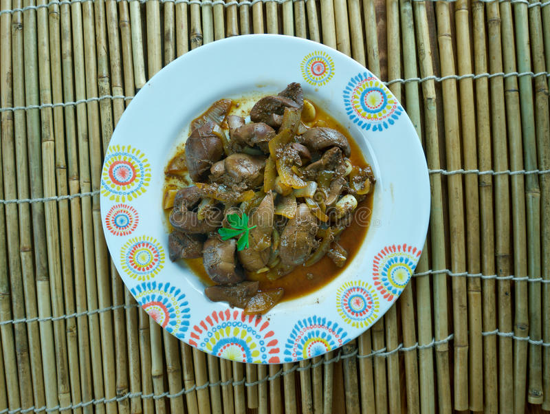 Mutton kidney roasted stock image