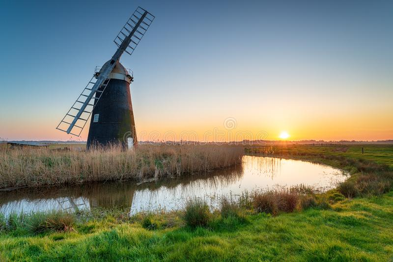 Mutton`s Drainage Mill royalty free stock photography