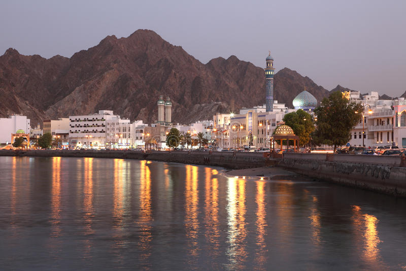 Muttrah Corniche at dusk, Muscat. Sultanate of Oman. Photo taken at 6th of June 2011