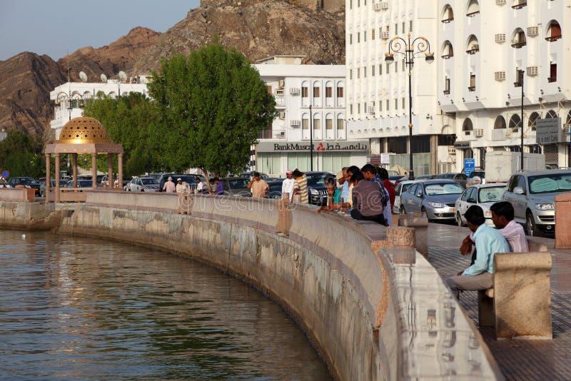 Muttrah Corniche, Muscateldruif Oman royalty-vrije stock afbeelding