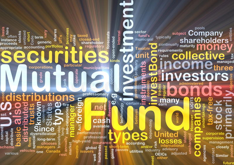 Mutual fund background concept glowing vector illustration