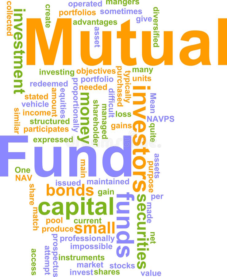 Mutual fund word cloud vector illustration