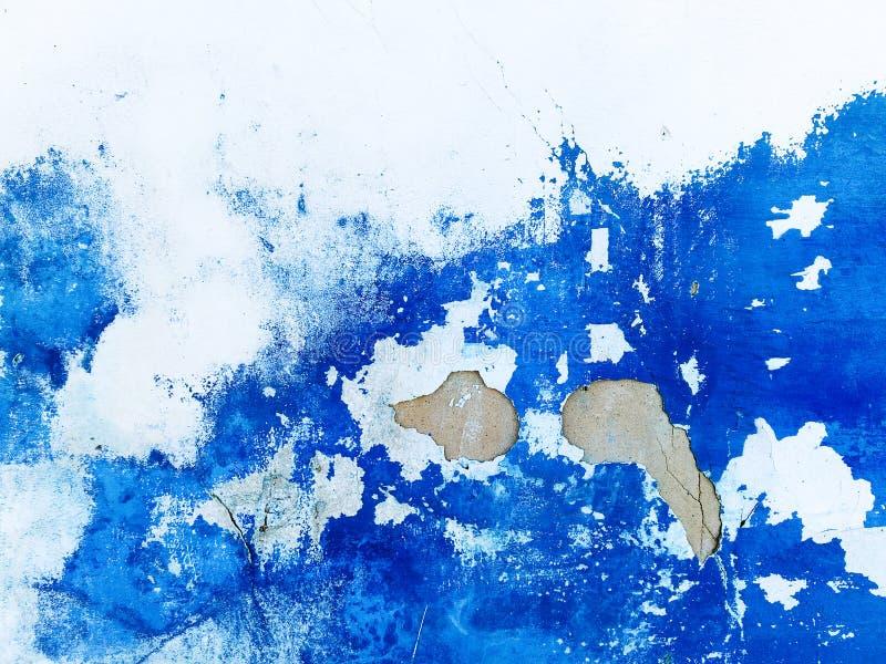 Muur blauwe abstracte het schilderen achtergrond Veneziangipspleister royalty-vrije stock foto
