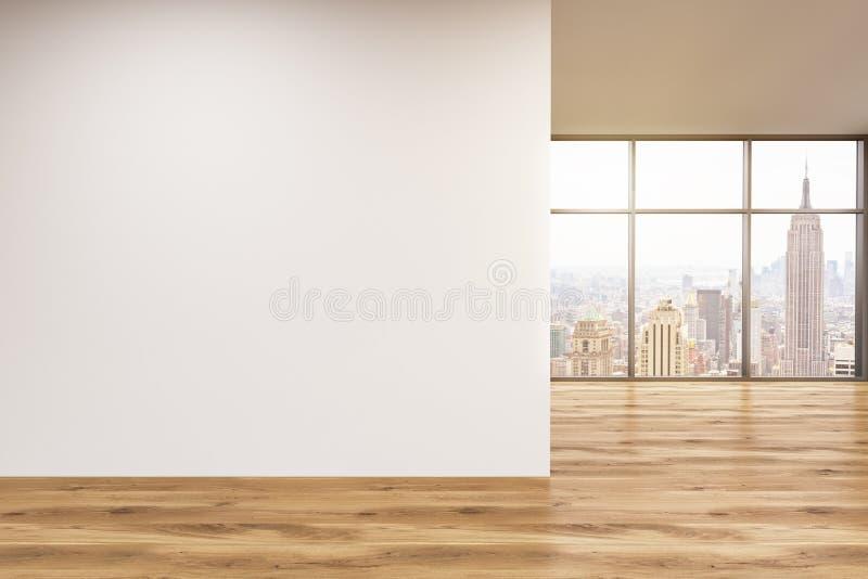 Muur in bureau, venster royalty-vrije illustratie