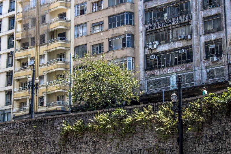 Muur en gebouwen stock fotografie