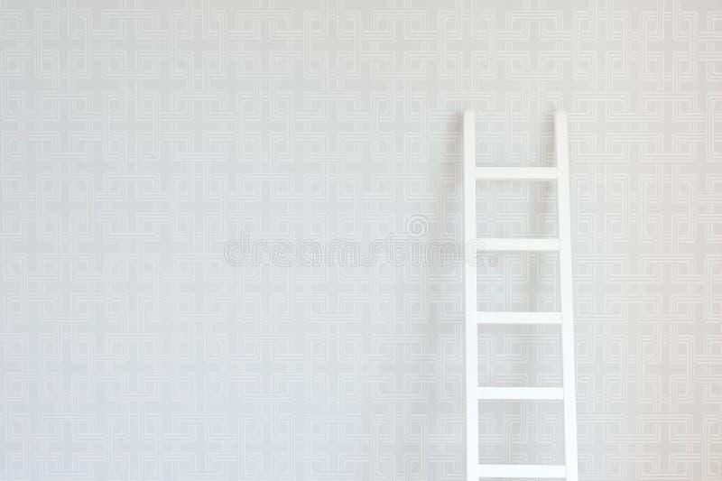 Muur en Ladder stock foto's