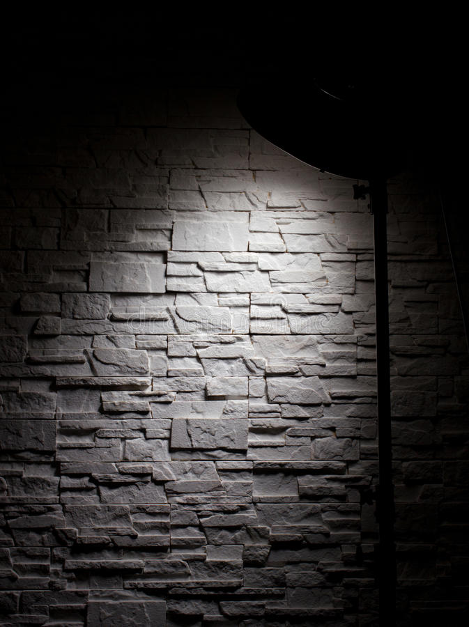 Muur en lamp royalty-vrije stock foto