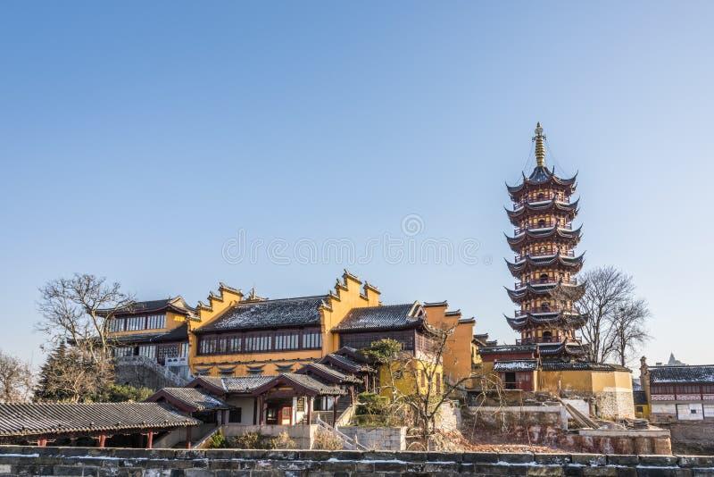 Muur en tempel royalty-vrije stock foto