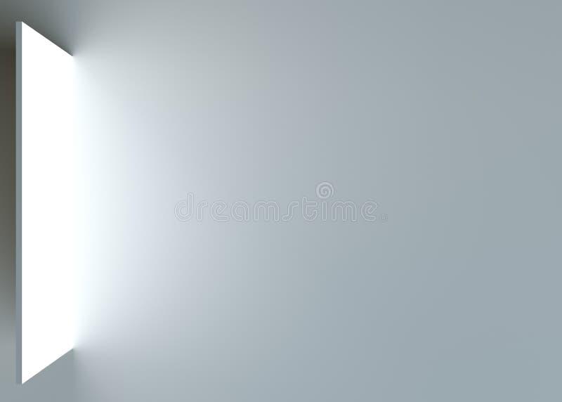 Muur in grijze ruimte royalty-vrije stock afbeelding