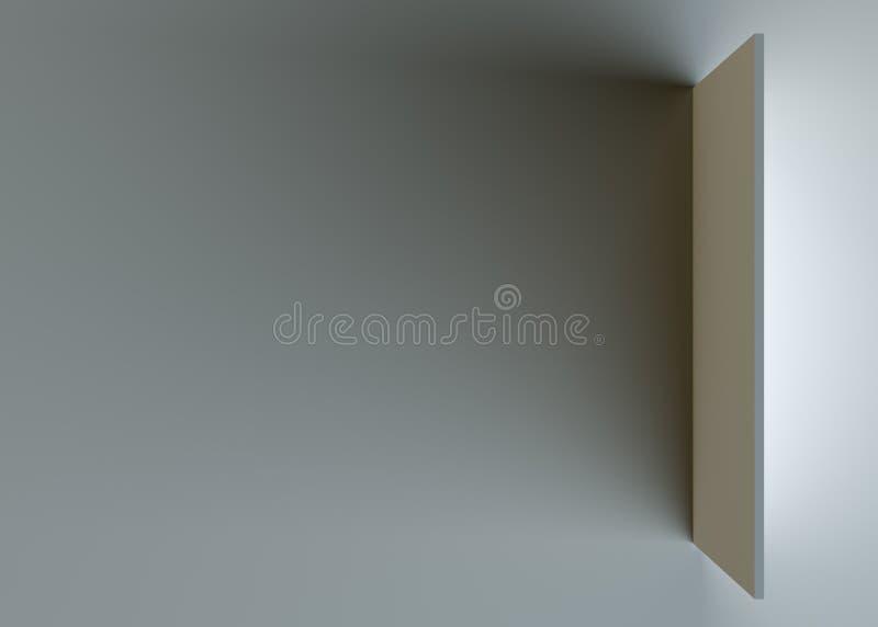 Muur in grijze ruimte royalty-vrije stock foto's
