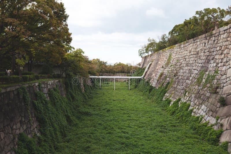 Muur in het kasteel van Osaka royalty-vrije stock fotografie