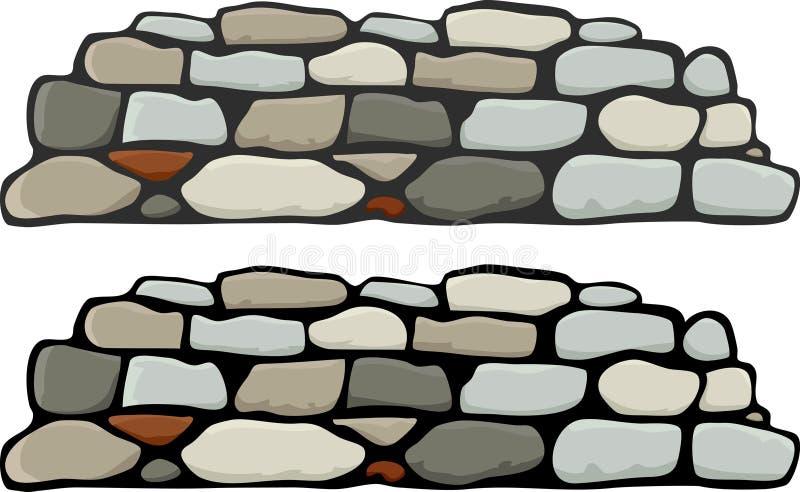 Muur I van de steen royalty-vrije illustratie