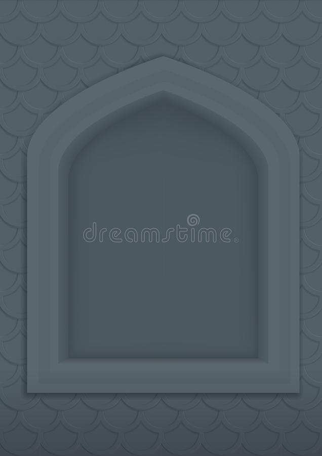 Muur met een gebied royalty-vrije illustratie