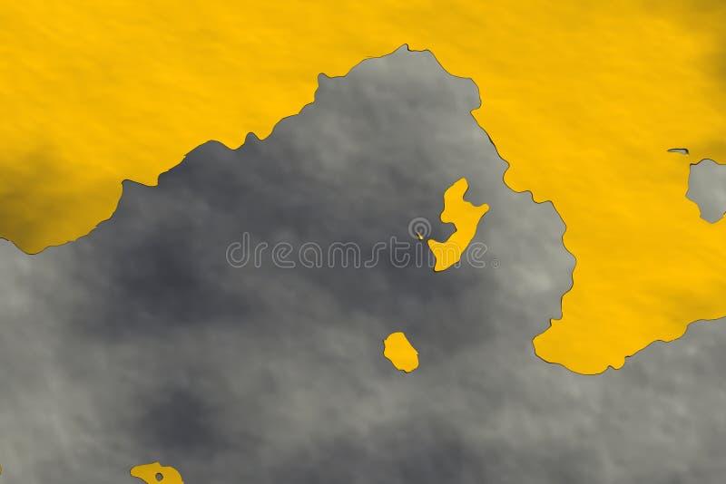 Muur met roest vector illustratie