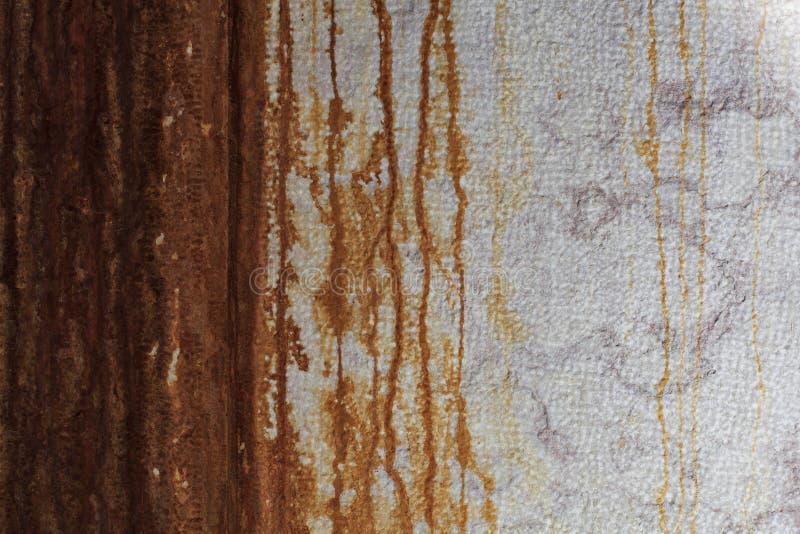Muur met roest als achtergrond te gebruiken royalty-vrije stock fotografie