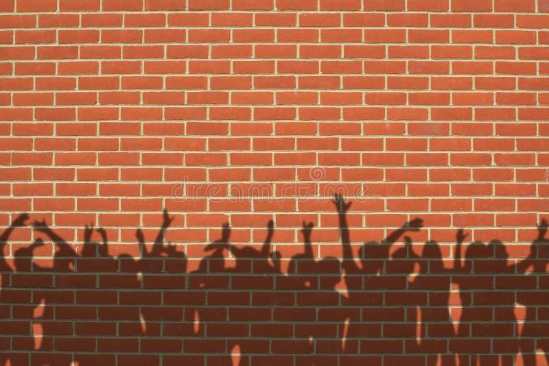 Muur met schaduwen stock afbeelding