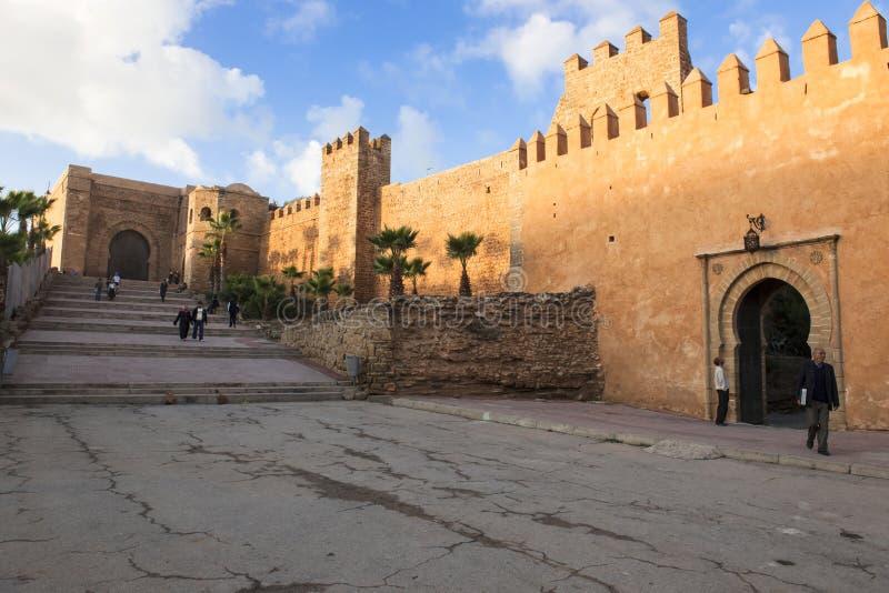 Muur in Rabat, Marocco royalty-vrije stock afbeelding