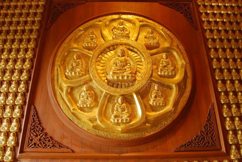 Muur van Boedha. royalty-vrije stock foto