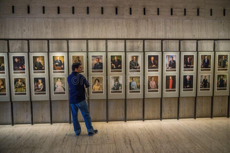 Muur van de Amerikaanse Voorzitters royalty-vrije stock foto