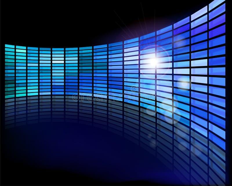 Muur van de schermen vector illustratie