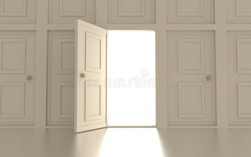 Muur van deuren vector illustratie