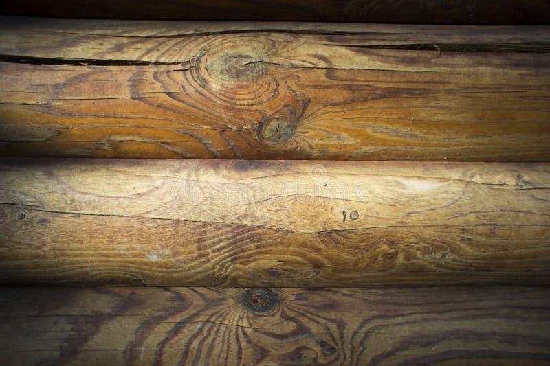 Muur van donkere houten planken stock foto